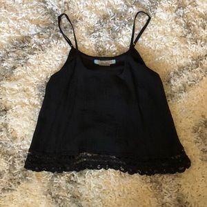 Flying Tomato black crop top, size S